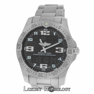 Breitling Authentic Mint Men's Breitling Aerospace Evo E79363 Titanium Quartz