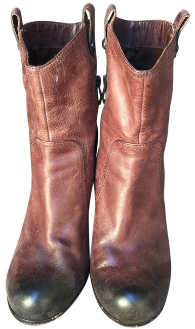 Item - Brown Zipper Ankle Boots/Booties Size US 8.5 Regular (M, B)