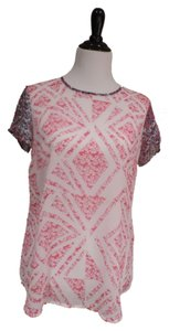CAbi Top White with Red and Blue