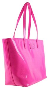 Kate Spade Small Harmony Pattened Leather Tote in PINK SAPHIRE