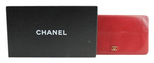 Chanel Red CC Bifold Wallet 3CCA12317