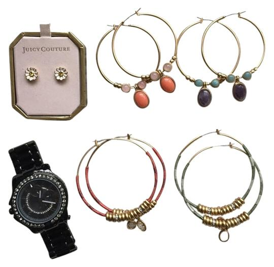Preload https://item2.tradesy.com/images/juicy-couture-multicolor-bundle-5-pairs-of-earrings-and-a-watch-2059026-0-0.jpg?width=440&height=440