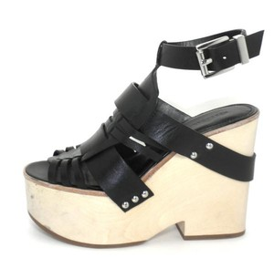 Rebecca Minkoff Leather Strappy Black Wedges