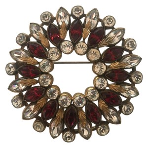 Other Spectaculair Vintage circle / wreath brooch