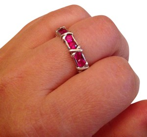 Other Beautiful Ruby Eternity Ring in SS