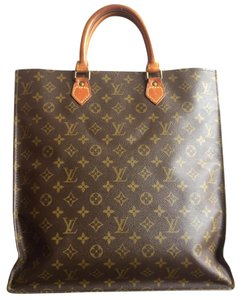 Louis Vuitton Monogram Leather Satchel in Brown