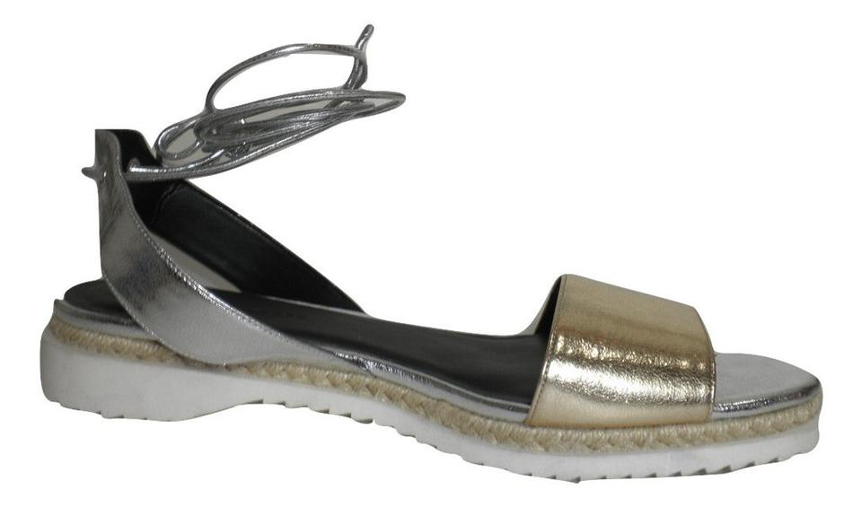 And amp; Minkoff Silver Gold Espadrilles Sandals Rebecca Zn8q0Ixwq