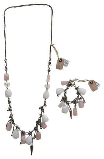 Preload https://item3.tradesy.com/images/allsaints-silver-rose-white-and-bracelet-set-necklace-2059052-0-0.jpg?width=440&height=440