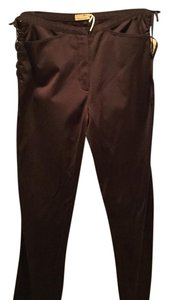 Max Studio Straight Pants dark brown