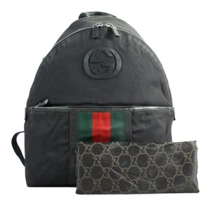 Gucci Piranha Web Stripe Interlocking Gg Backpack