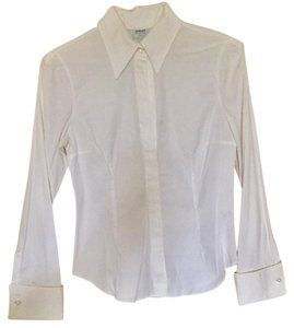 Armani Collezioni Button Down Shirt white