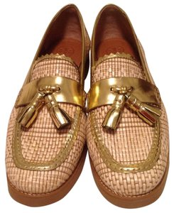Tory Burch Loafer Gold Flats