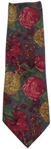 Cambridge Classics New CAMBRIDGE CLASSICS 100% Silk Floral Pattern Silk Necktie