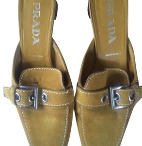 Prada Tan ( yellow) Mules