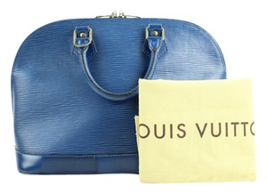 Louis Vuitton Lockit Speedy Noe Bucket Satchel in Blue
