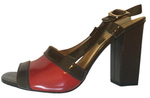 Marc by Marc Jacobs Mocha and candy red Sandals