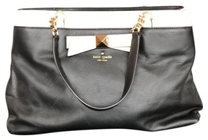 Kate Spade Tote in Black with Ivory Piping