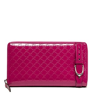 Gucci Gucci Nice Patent Leather Guccissima Zip Around Wallet 309757 6227