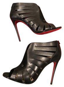 Christian Louboutin Heels Toot Mignonne Caged Cutout Black Sandals