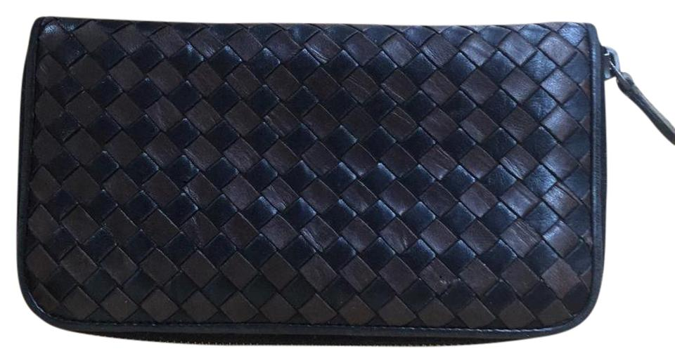 d0b948c49d7f1 Bottega Veneta Black & Brown Zip Around Cuteeee Wallet - Tradesy