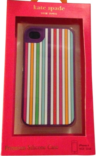 Kate Spade Kate Spade Silicone Rainbow Stripe Case Cover iPhone 4/4S