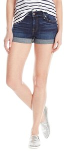 7 For All Mankind Ny Cuffed Shorts New Nouveau New York Dark