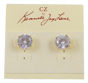 Kenneth Jay Lane Round CZ Stud Post Earrings