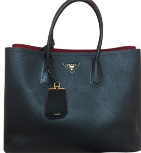 Prada Tote in Black and red interior