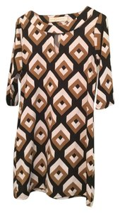 Tracy Negoshian short dress Black/Brown Multi on Tradesy
