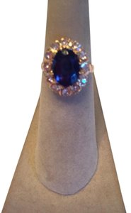 Other Antique gold, diamonds and synthetic sapphire ring