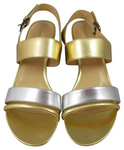Carmen Marc Valvo Gold/Silver Sandals