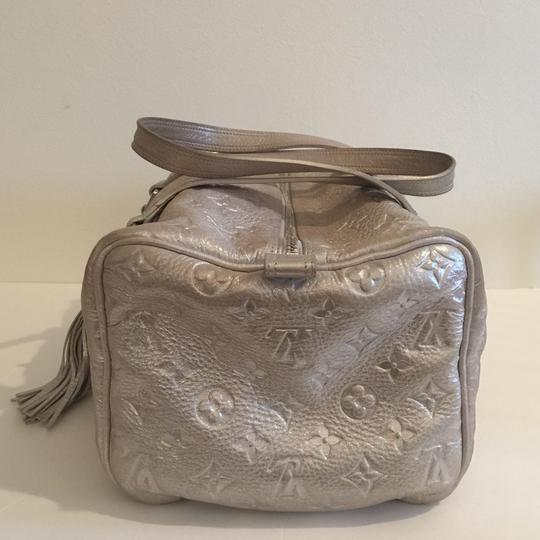 Louis Vuitton Satchel in silver shimmery