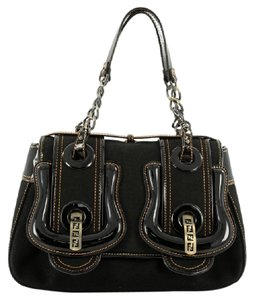 Fendi B Patent Shoulder Bag
