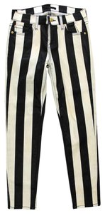 7 For All Mankind Striped Skinny Jeans-Coated