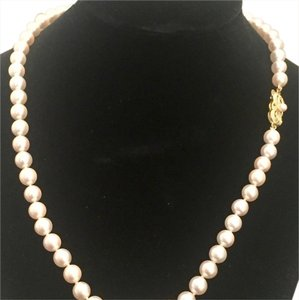 Mikimoto ESTATE AKOYA LARGE 7-6.5 MM 18 IN 18 KT GOLD CLASP #16008