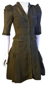 Byron Lars Beauty Mark Pinup Military Dress