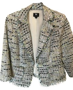 W by Worth Hard To Find Nwot Vintage Look Multi Color Pastels Blazer