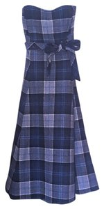 Susana Monaco Wool Tartan Plaid Dress
