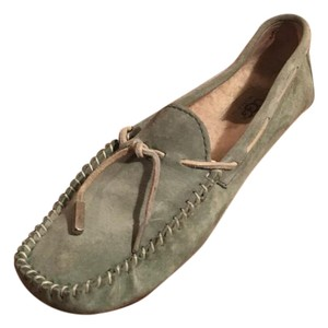 UGG Australia Loafers Suede Ugg Loafers Fur Lined Green Flats