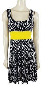 XOXO short dress black, yellow and white Size Medium on Tradesy