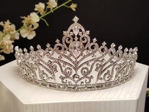 Silver Plated Romantic Princess Cubic Zirconia Tiara