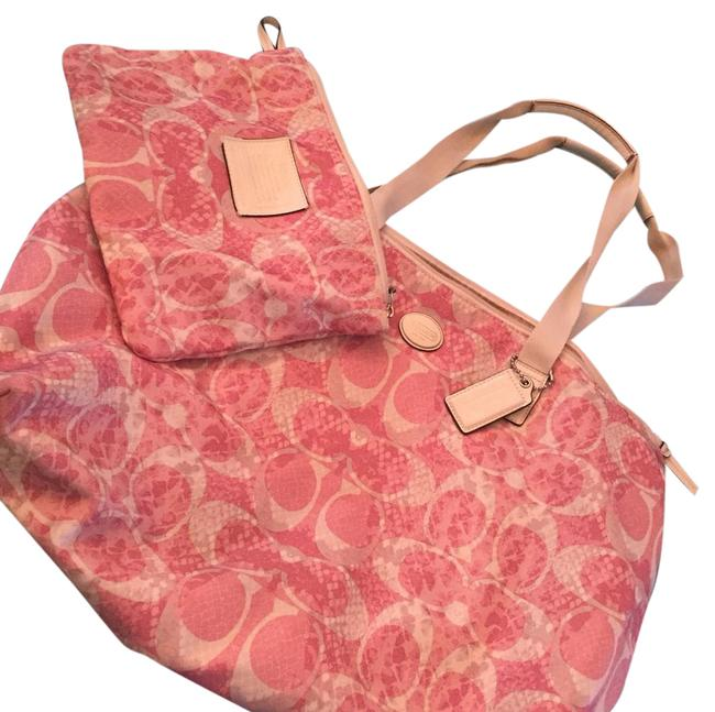 Item - Pink and White - Beach Bag