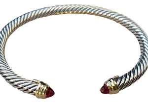 David Yurman Cable Classics Bracelet with Pink Tourmaline and Gold, 5mm