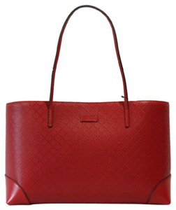 Gucci 353397 Diamante Hilary Lux Leather Tote in Red