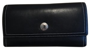 Coach Real Coach black leather wallet