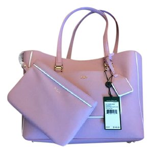 Ralph Lauren Pink New Leather Tote in Tea Rose