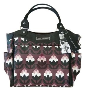 Petunia Pickle Bottom Glazed City Carryall Plum, pink, white, black Diaper Bag