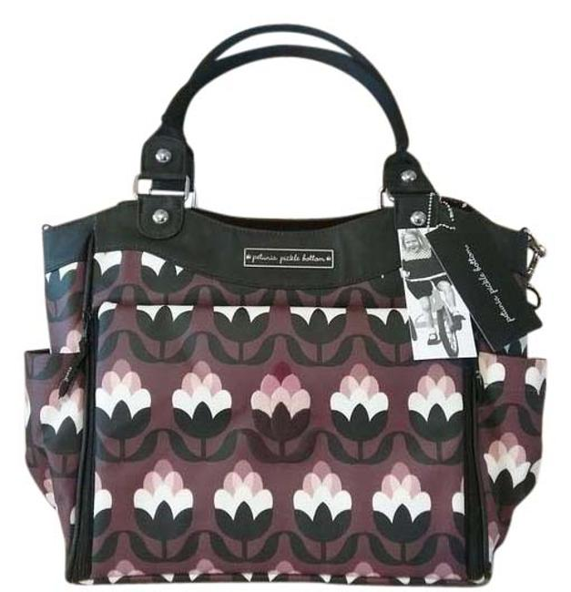 Item - Carryall Glazed City In Tuscan Twilight Plum Pink White Black Coated Diaper Bag