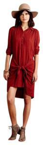 Maeve short dress Burnt Orange Anthropologie on Tradesy
