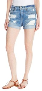 7 For All Mankind Cuffed Shorts Rigid Blue Orchid